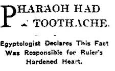 Pharaohtoothache